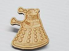 Buy Laser Engraved Dalek Wood Hat Pin