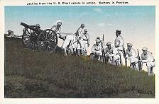 Buy US Navy, Jackies from Fleet Ashor in Action with Cannon Vintage Postcard