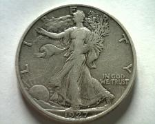 Buy 1927-S WALKING LIBERTY HALF VERY FINE+ VF+ NICE ORIGINAL COIN FROM BOBS COINS