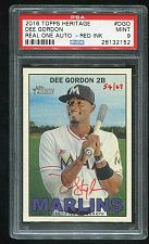 Buy 2016 TOPPS HERITAGE REAL ONE RED AUTO DEE GORDON PSA 9 MINT (26132152)
