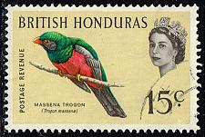 Buy British Honduras #173 Massena Trogon; Used (0.25) (0Stars) |BHO173-01XVA