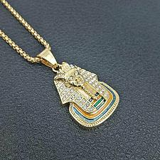 Buy Elvis Presley TCB NY Concert Jumpsuit Stage Necklace Egyptian Pharaoh Pendant