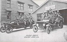 Buy A Fire Dept, Camp Lee VA Genuine Photo Unused Postcard