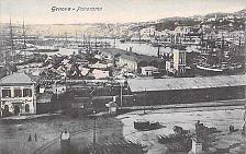 Buy Genova Panorama Hand Tinted Italy Unused Vintage Postcard