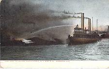 Buy Fire Boat, North River D.L&W.R.R. Hoboken Fire Used Postcard