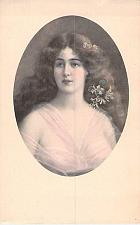Buy Young Girls Portrait, Artist M.M. Vienne, French Vintage Postcard