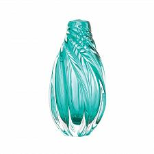 Buy *18715U - Ocean Aqua Spiral Art Glass Vase Accent