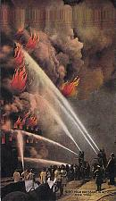 Buy High Pressure in Action Fire Fighting NY New York Vintage Unused Postcard