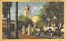 Buy South Patio, Union Depot, Los Angeles Vintage Postcard