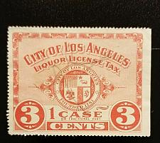 Buy 3c City of Los Angeles Liquor License Tax, One Case, Extremely Rare Revenue