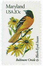Buy 1982 20c State Birds & Flowers, Maryland, Oriole & Susan Scott 1972 Mint F/VF NH