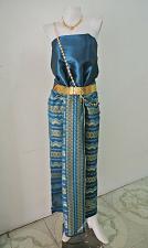 Buy Thai Myanmar Bondi Blue Silk Fabric For Top Skirt Wedding dress Costume Clothing