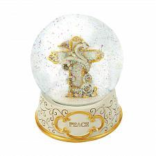 Buy *18567U - Peaceful Cross Snow Globe Peace Base