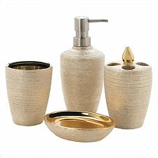 Buy *18331U - Golden Shimmer 4pc Porcelain Bathroom Accessory Set