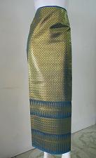 Buy Thai Tradition Bondi Blue Synthetic Silk Fabric For Top Skirt Wedding dress E2