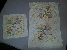Buy Vintage Care Bears Dish Hand Towel displayed condition