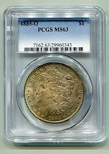 Buy 1885-O MORGAN SILVER DOLLAR PCGS MS63 GREAT OBVERSE / REVERSE COLOR ORIGINAL