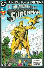 Buy The Adventures of Superman 499 FUNERAL FOR A FRIEND 5 Doomsday Death of Superman