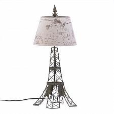 Buy 15162U - Parisian Eiffel Tower Inspired Black Metal Table Lamp