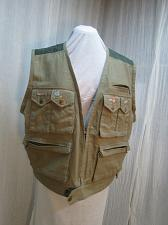 Buy Fly Fishing Vest Embroidered Flies 44 Chest Linen Cotton Quilted New Travel v42