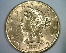 Buy 1882 FIVE DOLLAR LIBERTY GOLD NICE UNCIRCULATED NICE UNC ORIGINAL COIN BOBS COIN