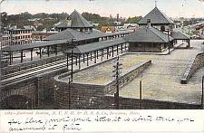 Buy Railroad Station, N.Y.N.H. & H.Railroad, Co. Brockton Mass Vintage Postcard