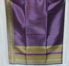 Buy Thai Tradition Purple Synthetic Silk Fabric For Top Skirt Wedding dress C1