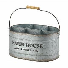 Buy *18572U - Galvanized Oval Metal Farn House Local Wine Bucket