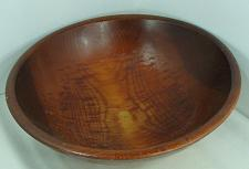 """Buy Vintage Farmhouse Primitive 14 1/2"""" Dough Bowl Out of Round Rustic Nice Patina"""
