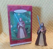 Buy Hallmark Keepsake Star Wars Obi-Wan Kenobi Figure Christmas Ornament 2000 W/Box