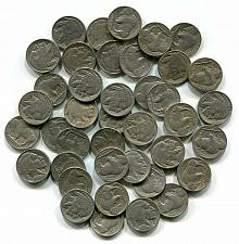 Buy BUFFALO NICKEL ROLL 1930-1937 FULL 40 PIECES FINE AND BETTER NICE ORIGINAL COINS
