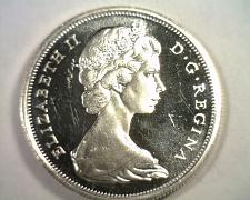 Buy 1967 CANADIAN HALF DOLLAR CHOICE UNCIRCULATED / GEM PROOF LIKE CAMEO ORIGINAL