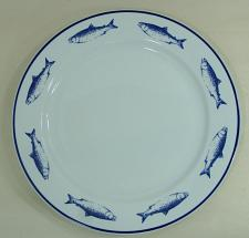 """Buy 10 Strawberry Street 12"""" Chop Plate Charger Platter Dinner Plate Blue Fish"""