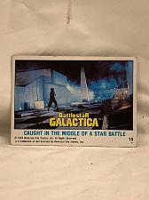 Buy Trading Card Battlestar Galactica #18 Caught in a Star Battle 1978