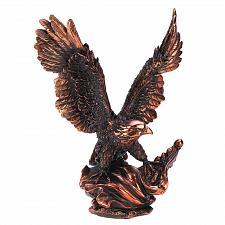Buy 13820U - Eagle In Flight Bronze Finish Resin Figurine Statue