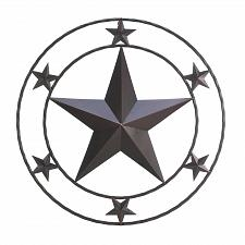 Buy *17000U - Texas Star Circular Iron Wall Decor