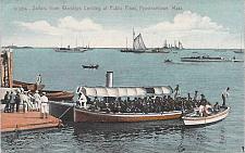Buy US Navy Sailors from Warships Landing Provincetown, Mass Vintage Postcard