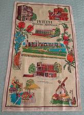 Buy e27r Pure Linen Tea Towel Perth Western Australia Landmark Hand Printed Souvenir