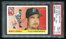 Buy 2004 TOPPS HERITAGE REAL ONE RED AUTO MIKE LOWELL PSA 10 GEM MINT (25201192)