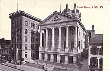Buy Court House, York, Circa 1909 PA Vintage Postcard, Dover PA, RFD Type 2F Cancel