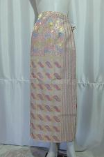 "Buy Thai Myanmar Wrap Sarong Long Skirt Stitching Tie Waist Free Size to 40"" SR11"