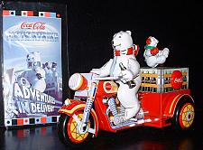 Buy Coca-Cola Motorcycle with Polar Bear Tin wind up toy Motortrikewith COA in box