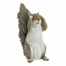 Buy *18248U - See No Evil Grey Squirrel Figure Garden Statue