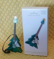 Buy Hallmark Rockin' Around the Christmas Tree Guitar Ornament Magic Sound 2012