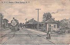 Buy N.Y.C. Station, Clifton Springs N.Y. Railroad Depot Used Postcard