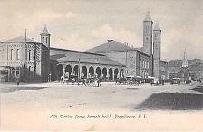 Buy Old Station (now demolished), Providence, R.I. Vintage Postcard