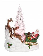 Buy :10976U - Light Up Santa Reindeer Sleigh Scene Figurine