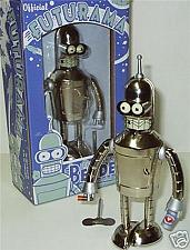Buy Futurama Bender Bright N Shiny Tin Wind up Robot made in 2008