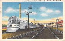 Buy Denver Zephyr, Chicago Burlington & Quincy Railroad Galesburg Vintage Postcard