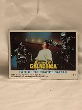 Buy Trading Card Battlestar Galactica #22 Fate Of The Traitor Baltar 1978